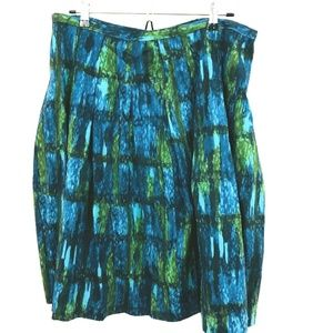 NWT! Talbots Watercolor A-Line Skirt